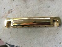 Gold Genuine Original Gibson Tune-O-Matic Tailpiece for Les Paul, SG, ES-335