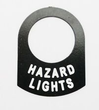 Land Rover series Classic Race car kit car HAZARD LIGHTS switch tag