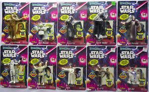 Star Wars bend-'ems - lot of 10 figures - Vader Leia Emperor Yoda Stormtrooper