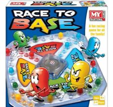 M.Y RACE TO BASE POP A DICE FRUSTRATION FUN FAMILY KIDS BOARD GAME NEW - TY571