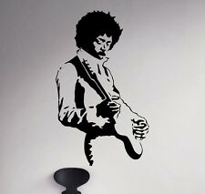 Jimi Hendrix Wall Vinyl Decal Guitarist Sticker Rock and Roll Art Decor 45(nse)