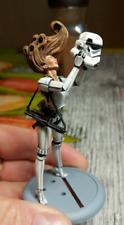 Classic 75MM Star Wars White Female Miniatures Resin Model Kit Figures Unpainted