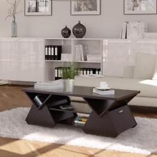 Furniture of America Melika Espresso Geometric Coffee Table Modern Furniture