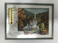 Geo. Munsell Gas and Coal Furnaces Advertisement 1961 Picture Thermometer