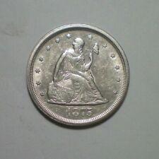 1875 S TWENTY CENT PIECE AU+