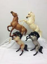 Lot Of 4 Breyer Standing Fighting Horses