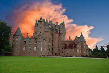 Framed Print - Glamis Castle in the Rugged Scottish Highlands (Picture Poster)