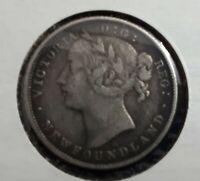 1872 Canada Newfoundland 20 cent rare - NO TAXES