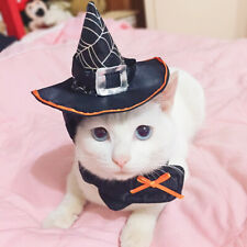 Cat Wizard Witch Hat Cap Costume for Christmas Halloween Party Holiday Supply