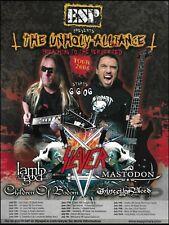 Slayer Lamb of God Mastodon Esp guitars The Unholy Alliance 2006 Tour 8 x 11 ad