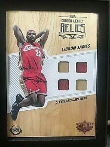 2016-17 UDA Supreme Hardcourt Career Legacy Quad Relics Lebron James CLR-LJ3