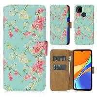 32nd Floral 2.0 - PU Leather Book Wallet Flip Case Cover for Xiaomi Redmi 9C