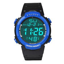 Moda Hombres LCD Digital Cronómetro Fecha Chico Deportivo Relojes Pulsera