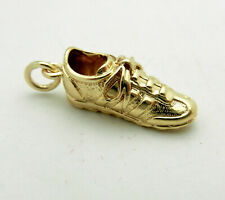 Solid 14k Yellow Gold Shoes Sneakers Bracelet Charm Pendant 4.3 grams