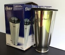 Original Oster Stainless Steel Blender Container Jar with Lid 4887 Metal NEW!