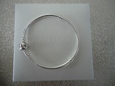 "Authentic Pandora Iconic Silver Charm Bracelet 20cm 7.9 "" Hinged Box 590702HV-20"