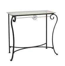 Konsole Tisch Konsolentisch Wandtisch Glastisch Beistelltisch Farbe: Schwarz