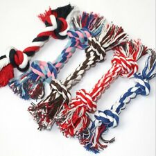 Pet Dog Toy Double Knot Cotton Rope Braided Bone Shape Puppy Dog Chew Treat Toys