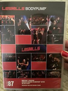 Les Mills BODYPUMP 87 DVD, CD, & NOTES!