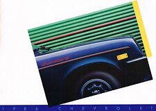1986 Chevy CHEVETTE Brochure with Color Chart: S, CS