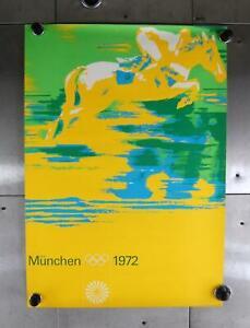 VTG Munchen Summer Olympics Equestrian Promo 1972 Art Print Poster German