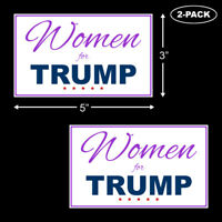 Trump 2020 Women For Trump Bumper Sticker Decal Vinyl Support MAGA 45th 2-PACK