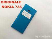 COVER POSTERIORE Per NOKIA LUMIA 730 RICAMBIO BATTERIA AZZURRO BLUE + TASTI