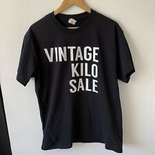 Gildan Black T-Shirt Size L USA Vintage Kilo Sale Staff Tee Short Sleeve