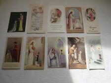 LOT de 10 IMAGES PIEUSES ANCIENNES : Souvenir de Communion (2)