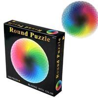 1000 pcs/set DIY Color Jigsaw Puzzle Rainbow Round Photo For Adult T8H4