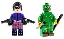 Custom Minifigures Kick Ass And Hit Girl Printed on LEGO Parts