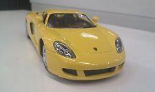 Porsche Carrera GT jaune kinsmart Jouet miniature 1/36 à l'échelle ouvert portes