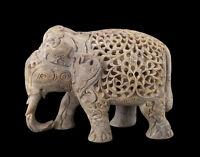 Soprammobile Elefante- Scultura IN Pietra India-Pietra Elefante CARVING-4934