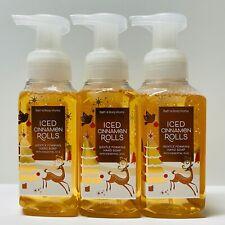 3 Bath & Body Works Iced Cinnamon Rolls 2020 Gentle Foaming Hand Soap 8.75 fl.oz