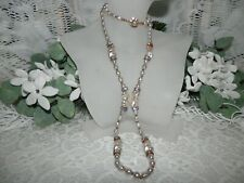 Gorgeous Miriam Haskell Baroque Pearl & Rhinestone Necklace