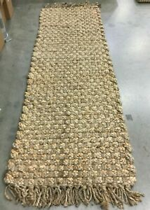"""NATURAL 2'-6"""" X 8' Loose Threads Rug, Reduced Price 1172631701 NF856A-28"""