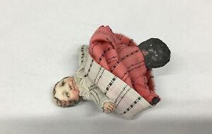 Vintage Black White Americana Topsy Turvy Flip Doll Muliti Cultural