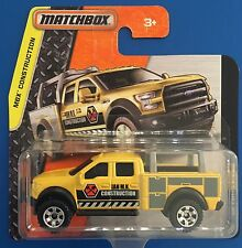 2016 Matchbox YELLOW FORD F-150 CONTRACTORS TRUCK CONSTRUCTION VEHICLE mint!