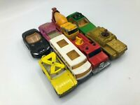 Vintage Lot 8 Matchbox Toy Cars Lesney 1969 1970's 1994 Gold Snorkel Golf   C9
