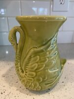 "Vintage Shawnee Swan Art Pottery Vase* Green 6"" #806 *LOVELY!"