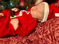 Waiting for Santa!  Reborn Baby Boy doll Levi by Bonnie Brown