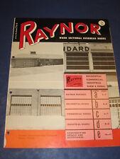 1954 Raynor Overhead Type Garage Door catalog Vintage Retro Service Stations