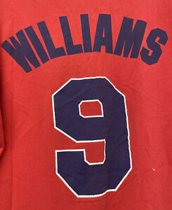 Ted Williams #9 Boston Red Sox MLB Majestic Cooperstown T-Shirt Men's XL GUC
