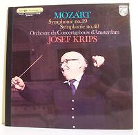 """33T MOZART Disque LP 12"""" Josef KRIPS - SYMPHONIE N° 39 et 40 - PHILIPS 6500430"""