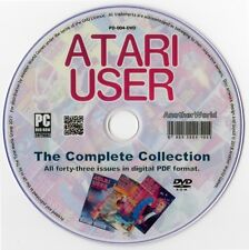 ATARI USER Magazine Collection on Disk ALL ISSUES! (XL/XE/400/800/2600 Games)