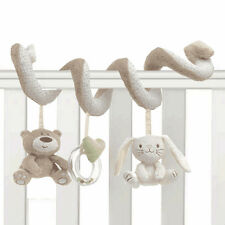 Baby Kid Cot Spiral Activity Hanging Musical Rattle Bear Rabbit Plush Soft Toy