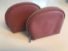 BAREMINERALS mauve makeup bag pouch cosmetic case toiletry travel X LOT 2 NEW