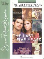 Last Five Years Movie Vocal Songbook 2002 Brown Goodbye Until Tomorrow Schmuel