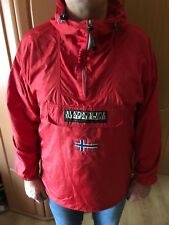Napapijri Rainforest PAC-A-MAC Anorak Pullover Waterproof Hood Jacket Large (L)
