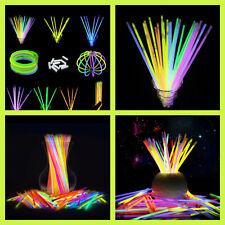 Glow Sticks Bracelets Necklaces Neon Colors Party Favors Disco Rave 10/25/50